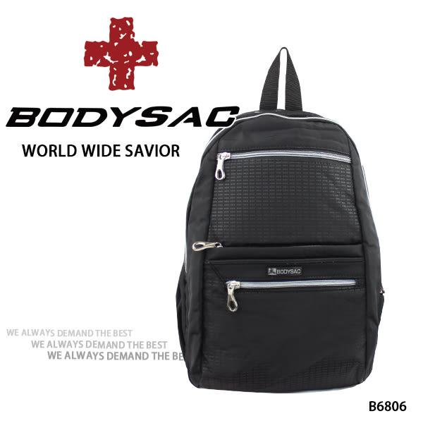 黑色輕量耐磨小後背包 AMINAH~【BODYSAC B6806】