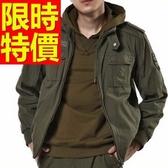 軍裝外套-軍旅風純棉休閒男外套62o15[巴黎精品]