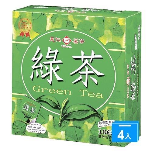 天仁綠茶防潮包2G*100包*4【愛買】