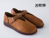 XES 線圈魔鬼氈真皮軟Q果凍鞋 優質時尚 淺棕色 /女鞋