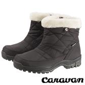 【日本 Caravan】女短筒防水保暖雪鞋『黑』0023123 雪靴 │ 透氣 │ 輕量