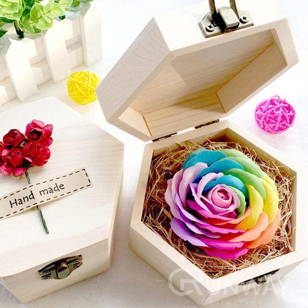 木盒 單朵 香皂玫瑰花 DIY手工花 永不凋謝 情人節 女友 男友 母親節 創意禮物 生日 閨蜜