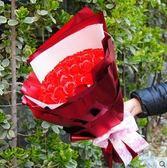 99朵玫瑰花香皂花束生日禮物送女生閨蜜卡通花束創意三八節禮物(33紅香皂花 圓形)