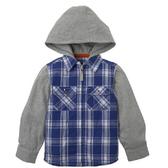 mothercare 藍白格子連帽襯衫-太空冒險(M0C6542)4~10A