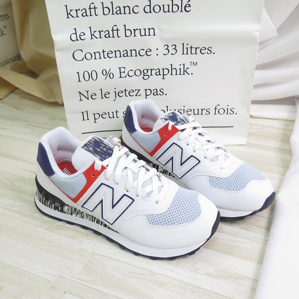 New Balance 574 復古 休閒 運動鞋 女款 WL574CS2 白【iSport愛運動】