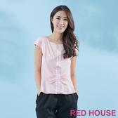 【RED HOUSE 蕾赫斯】緞帶蝴蝶結T恤(共2色) 任選2件899元