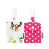 Puku 藍色企鵝 平安符保護袋 (2入)-粉色【佳兒園婦幼館】