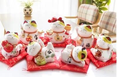 [協貿國際]陶瓷七福貓存錢桶擺飾 單個價