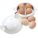 TwinS雞造型微波蒸蛋器微波爐煮蛋器【一次煮熟4蛋】