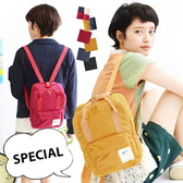 後背包 日本韓國人氣款帆布後背包 素色拼接兩用男女包 小款【PA003】 ENTER  02/01