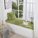 歐式小奢華毛絨飄窗墊北歐臥室裝飾榻榻米坐墊窗臺毯陽臺定做墊子