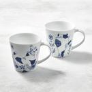 日本美濃燒-花園藍貓馬克杯-禮盒組(2件...
