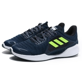 ADIDAS 休閒鞋 慢跑鞋 CLIMA COOL VENT SUMMER 深藍 螢光 透氣 男 (布魯克林) FW3012