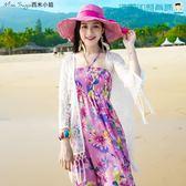 防曬衣女短款開衫沙灘蕾絲薄外套【洛麗的雜貨鋪】