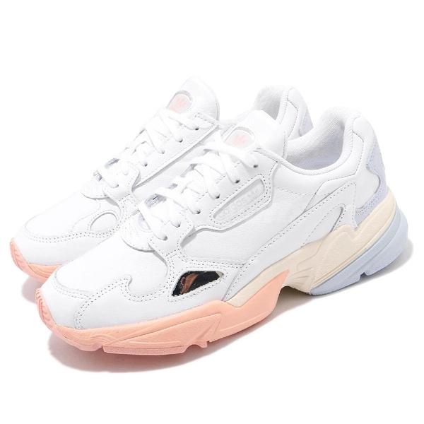 adidas 休閒鞋 Falcon W 白 藍 女鞋 老爹鞋 運動鞋 【ACS】 EG8141