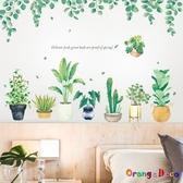 壁貼【橘果設計】多肉綠色植物 DIY組合壁貼 牆貼 壁紙 室內設計 裝潢 無痕壁貼 佈置