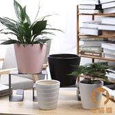 陶瓷花盆簡約創意植物室內桌面透氣花盆【宅貓醬】