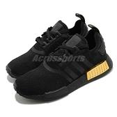 adidas 休閒鞋 NMD_R1 W 黑 金 BOOST 女鞋 愛迪達 金屬感 黑鞋【ACS】 FV1787