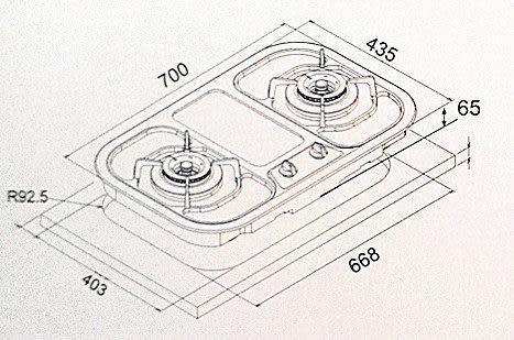 【歐雅系統家具廚具】豪山 HOSUN  ST-2173  歐化檯面爐