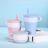 隨行杯 折疊水杯硅膠便攜式咖啡杯隨行杯可伸縮耐高溫杯具旅行杯【快速出貨八折下殺】
