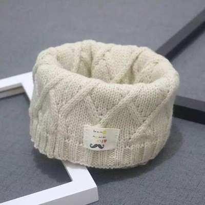 兒童冬天圍巾 兒童圍巾秋冬韓版時尚兒童寶寶圍脖男女童針織毛線脖套小孩冬天潮 多色