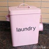 鐵盒 居家簡單洗衣粉桶鐵儲米箱零食盒收納盒密封儲存桶罐 coco衣巷