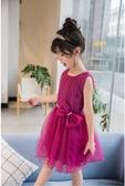 衣童趣♥紡紗氣質蝴蝶結澎澎洋裝 無袖珍珠蝴蝶結連身裙 正式場合花童必備