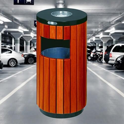 【企隆 圍欄 飯店用品】仿木烤漆垃圾桶/C57 垃圾桶/菸灰缸/煙灰/置物