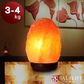 【鹽夢工場】原礦系列-玫瑰鹽燈(3-4kg|原木座)