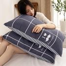 一對裝夏枕頭枕芯家用單人雙人助睡眠整頭學生宿舍帶枕套男 【母親節特惠】