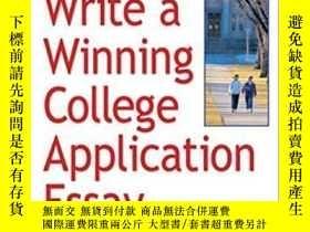 二手書博民逛書店How罕見To Write A Winning College Application Essay, Revise