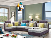薰衣草ㄇ型布沙發-尺寸布色可訂製【歐德斯沙發】
