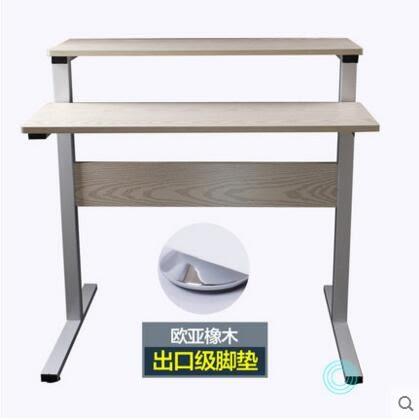 電腦桌台式家用可移動學習桌簡易書桌雙層筆記本懶人桌子