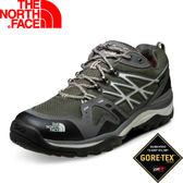 【The North Face 男款 GORE-TEX低筒登山健行鞋(寬楦) 褐灰綠/月霧灰】CXZ6/登山鞋/越野鞋★滿額送