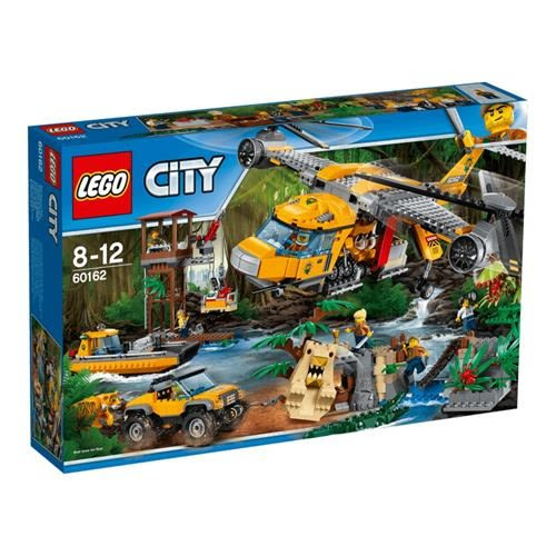 LEGO 樂高 City Jungle Explorers Jungle Air Drop Helicopter 60162 (1250 Piece), Multi