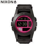 NIXON 手錶 原廠總代理 A489-480 BAJA 黑桃紅 潮流時尚帆布錶帶 男女適用 運動 生日 情人節禮物