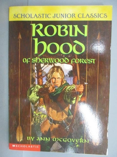 【書寶二手書T1/原文小說_LRS】Robin Hood of sherwood Forest_Ann McGovern