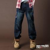 BIG TRAIN COBRA眼鏡蛇垮褲-男-深藍