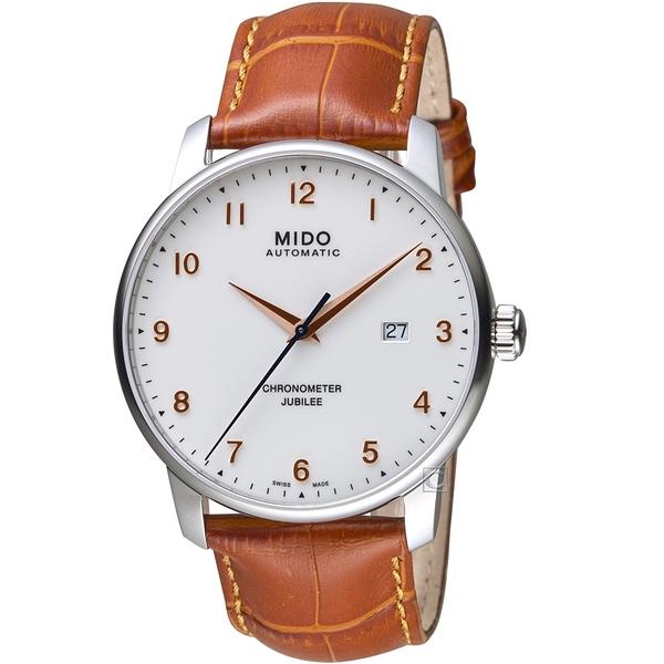 MIDO美度BARONCELLI JUBILEE天文台經典機械錶   M0376081626200 白