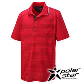 PolarStar 濕排汗抗UV短袖POLO衫 男『暗紅』戶外│休閒│登山│露營 │吸濕排汗│防曬衣 P16161