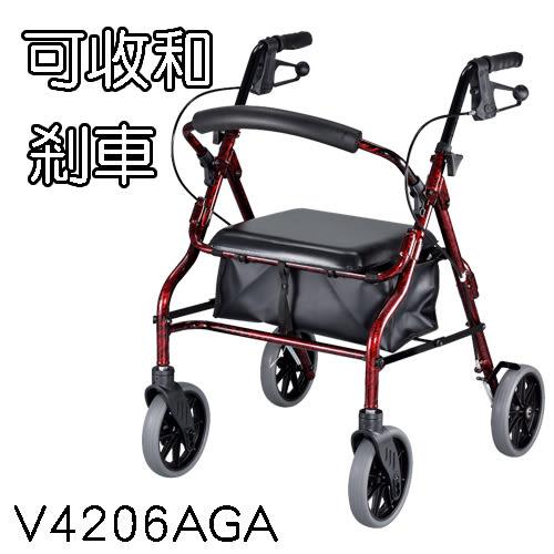 助行車 健步車 四輪含剎車 V4206AGA 光星骨科復健器材NOVA