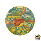 【收藏天地】台灣紀念品*神奇的陶瓷吸水杯墊-插畫台北∕馬克杯 送禮 文創 風景 觀光  禮品