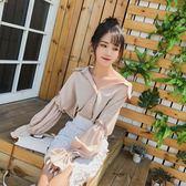 2018夏季新款韓范雪紡襯衫V領女裝長袖襯衣燈籠袖上衣  enjoy精品