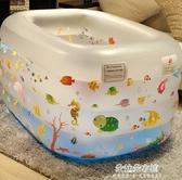 充氣泳池 兒童游泳池家用超大充氣兒童加厚可折疊室內小孩洗澡游泳桶 朵拉朵YC