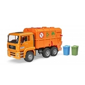 bruder 1:16 橘垃圾車 MAN TGA Garbage truck #2760 (德國製造)