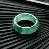 戒指 臻惠源 緬甸A貨天然老坑冰種翡翠戒指滿綠女款男士指環  酷動3Cigo