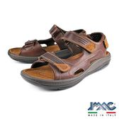 【IMAC】義大利進口真皮休閒氣墊涼鞋 咖啡(71330-BR)