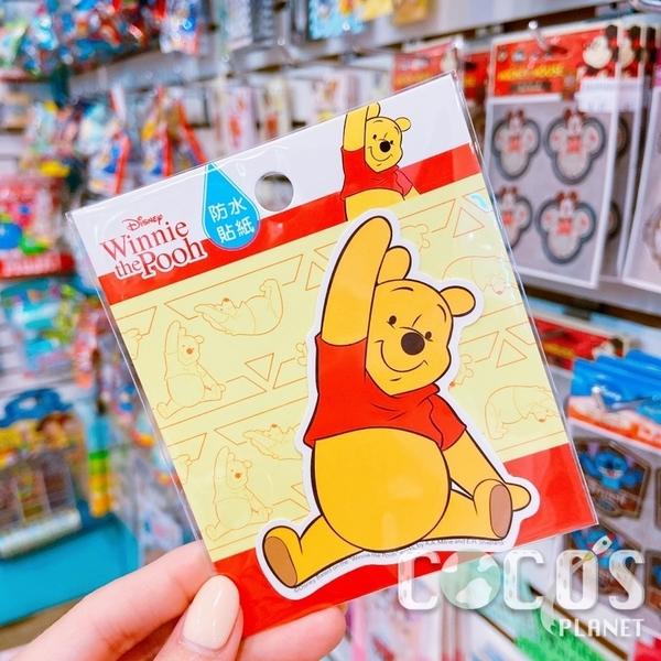 迪士尼 小熊維尼 維尼熊 造型防水貼紙 壁貼 行李箱貼 筆電貼 機車貼 貼紙 COCOS TM031