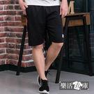 【P8305】美式經典布標抽繩彈力休閒運動短褲(共二色)● 樂活衣庫