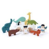【美國Tender Leaf Toys】友情萬歲輪船(動物收納手拉車)